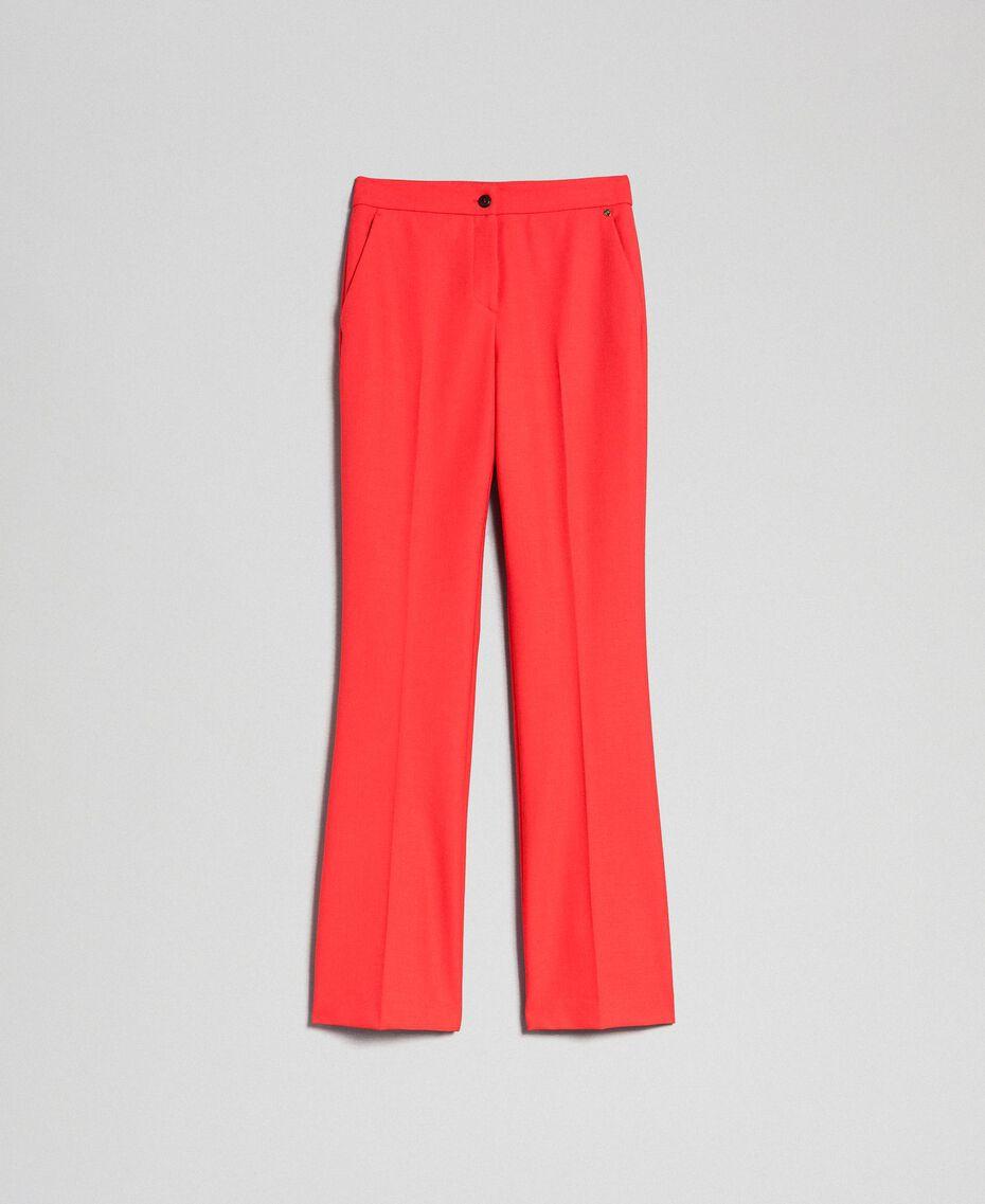 Pantalon en laine technique Fuchsia Rose Vegas Femme 192TT2450-0S