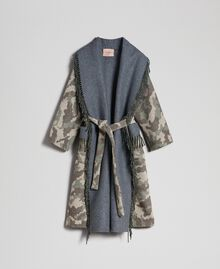 Cappotto in panno camouflage con frange Jacquard Camouflage Donna 192TT2502-0S