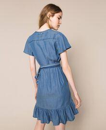 Flowing denim dress with flounce Denim Blue Woman 201MT2193-03