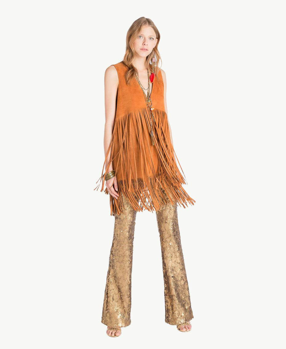 Suede tunic Tobaco Woman TS82AT-01