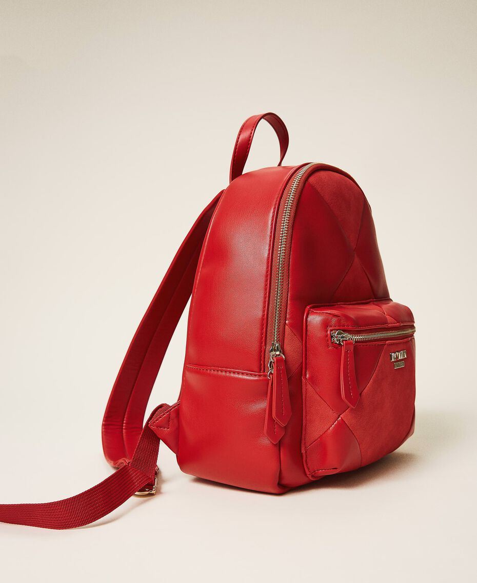 Faux leather backpack Cherry Red Woman 202MA7021-02