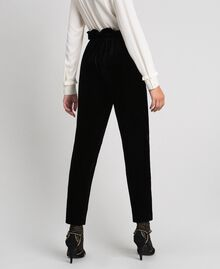 Velvet trousers Black Woman 192TT2420-03