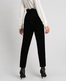 Pantaloni in velluto Nero Donna 192TT2420-03