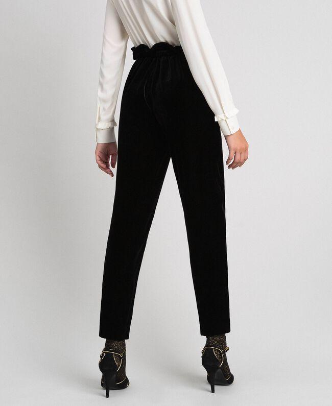 Pantalon en velours Noir Femme 192TT2420-03