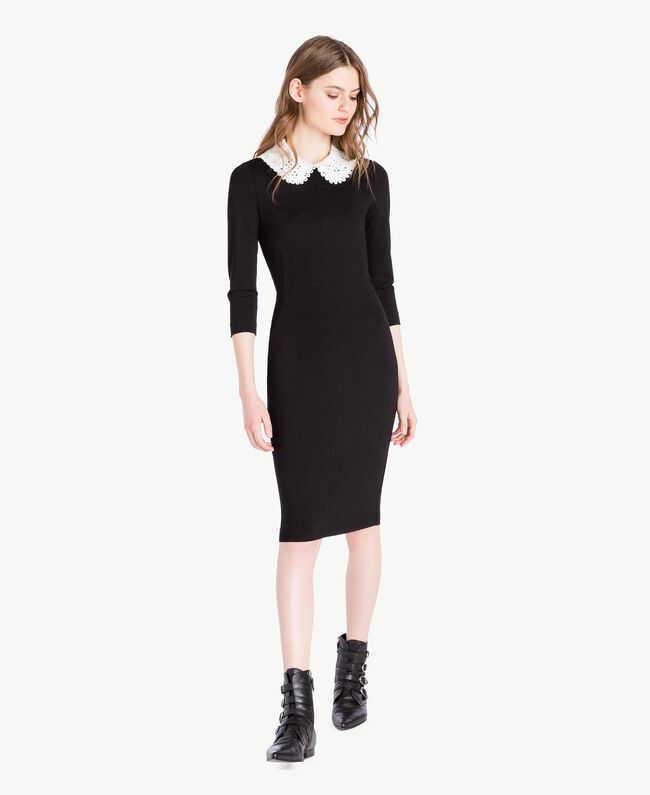 Collar dress Black Woman PS828B-01