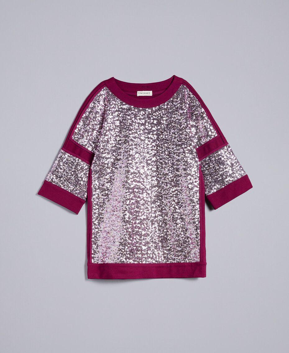 """Mini abito con full paillettes Viola """"Sweet Grape"""" Bambina GA82PC-01"""
