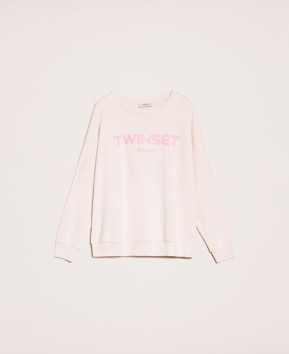 Maxi sweatshirt with relief logo