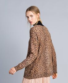 Animal print viscose blend mock neck jumper Maxi Animal Print Woman SA83KB-03