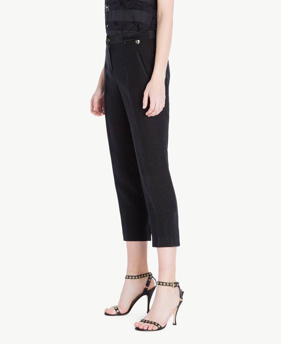 Pantalon envers satin Noir Femme TS823G-02