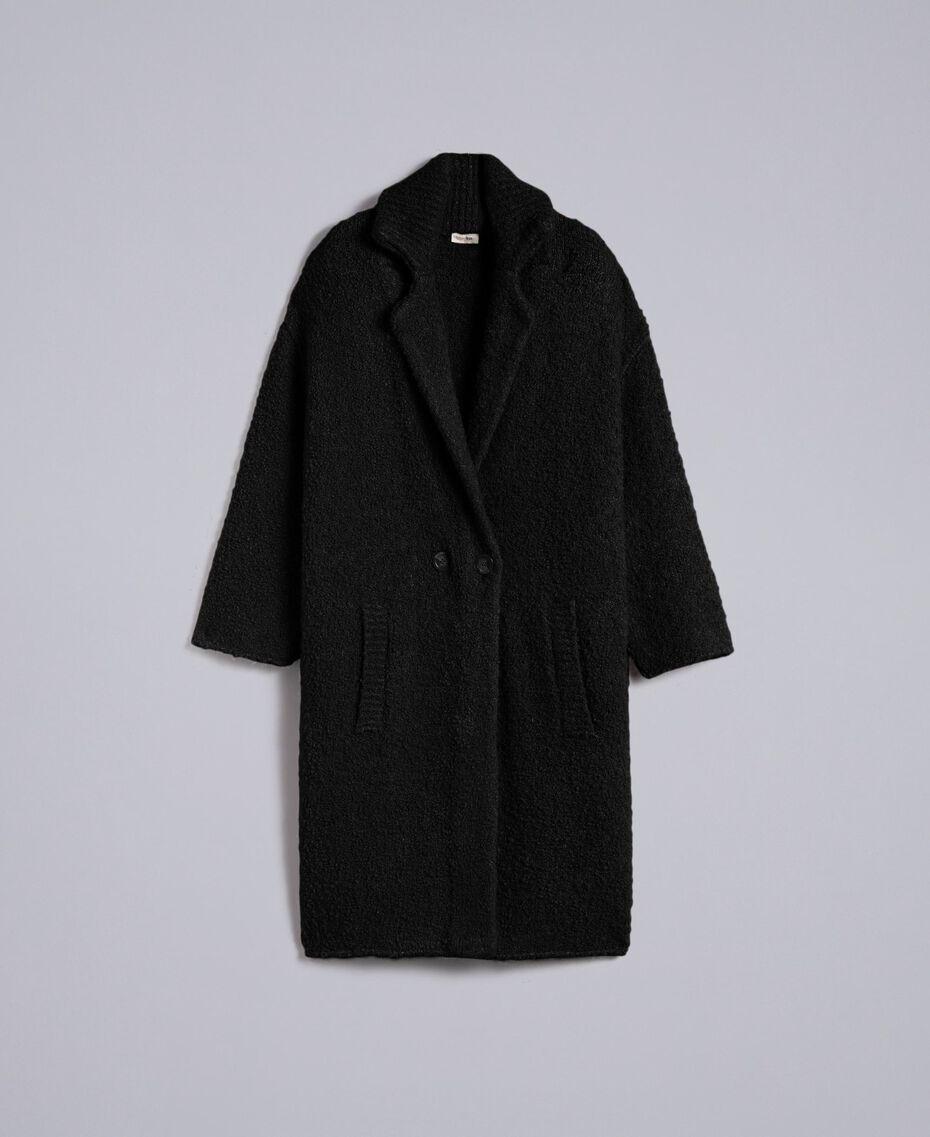 Bouclé coat Black Woman SA83CA-0S