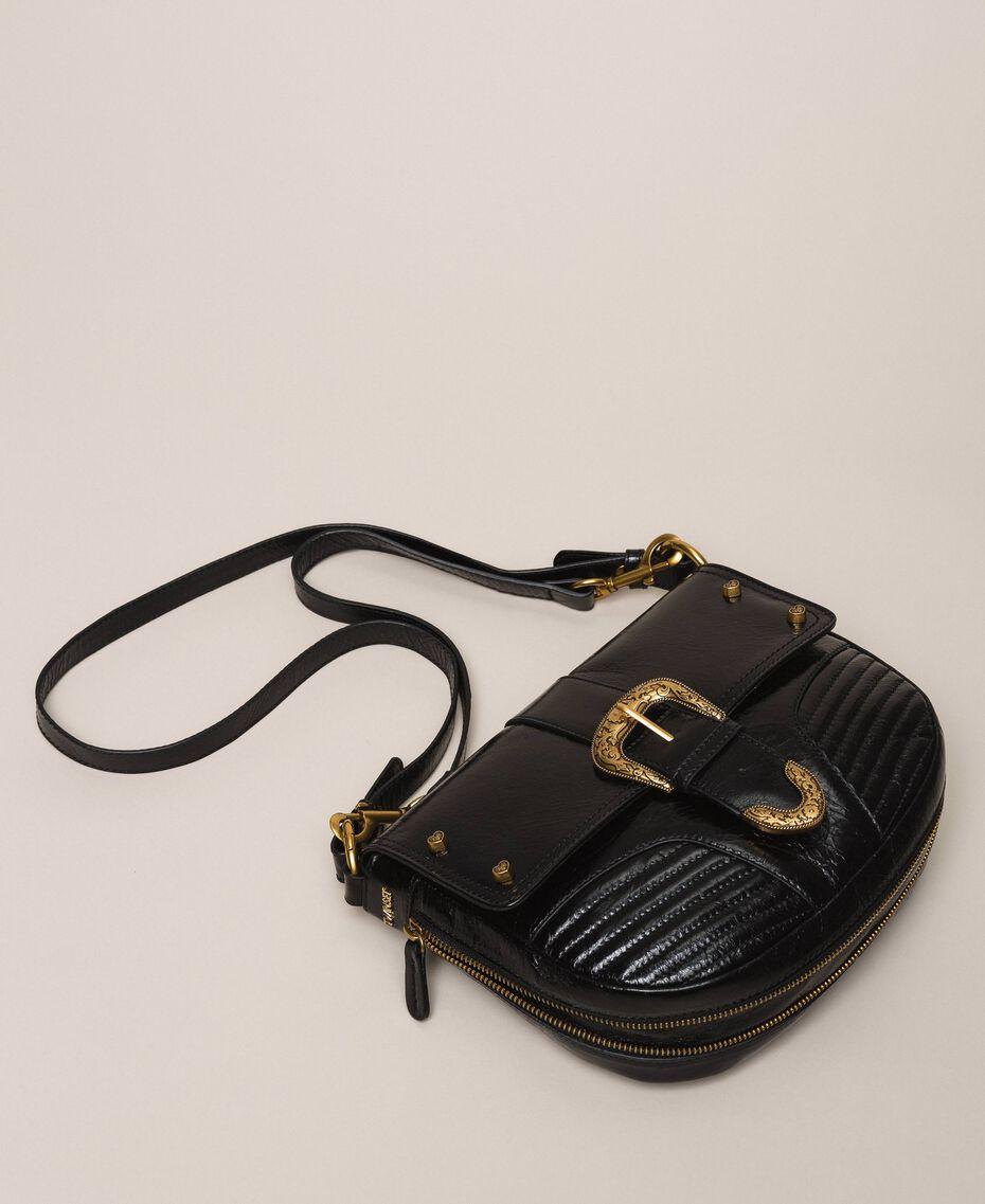 Large Rebel shoulder bag Black Woman 201TA723J-01