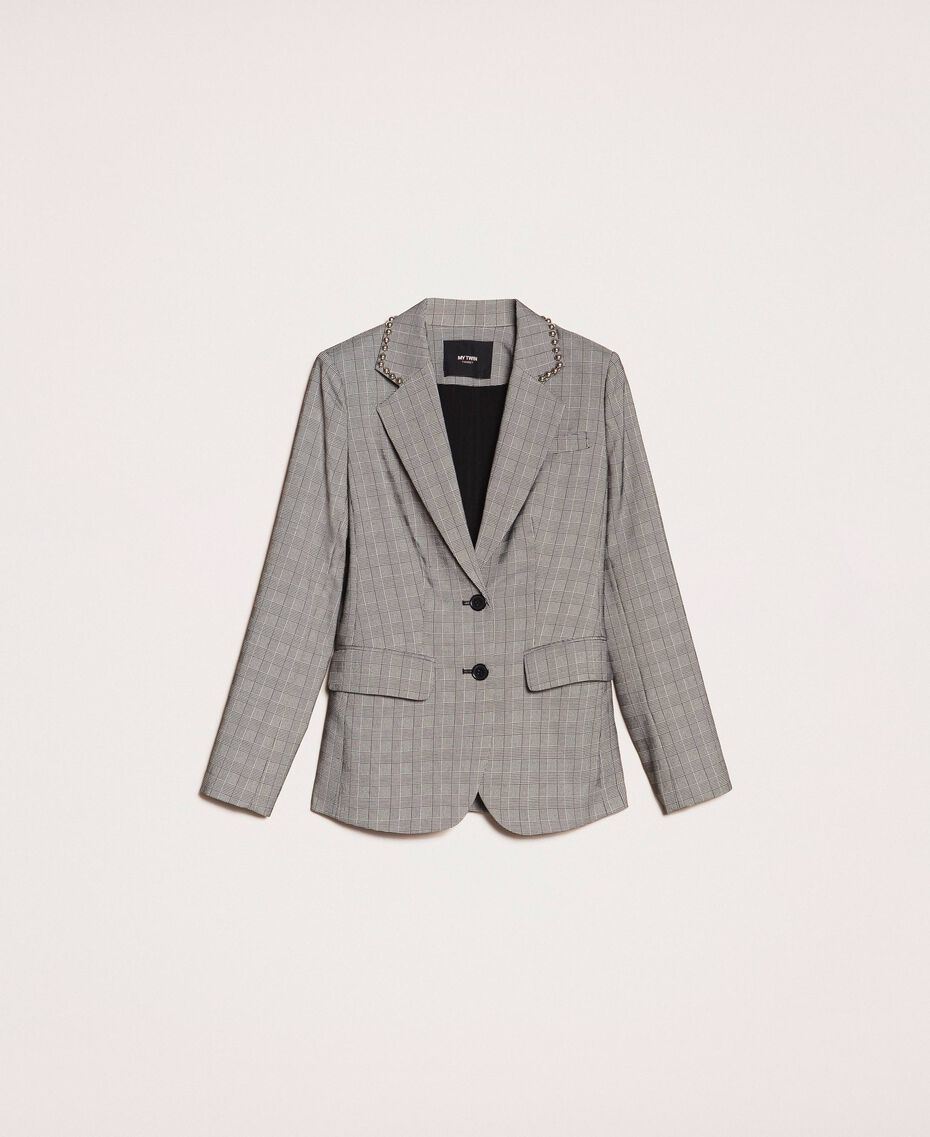 Glen plaid blazer Multicolour Glen Plaid Woman 201MP2060-0S