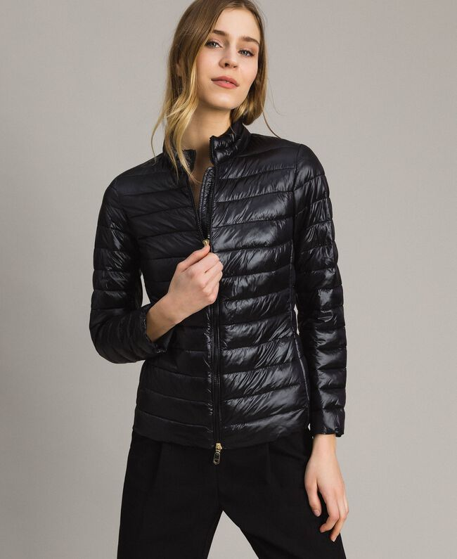 Quilted puffer jacket Black Woman 191LL24CC-01