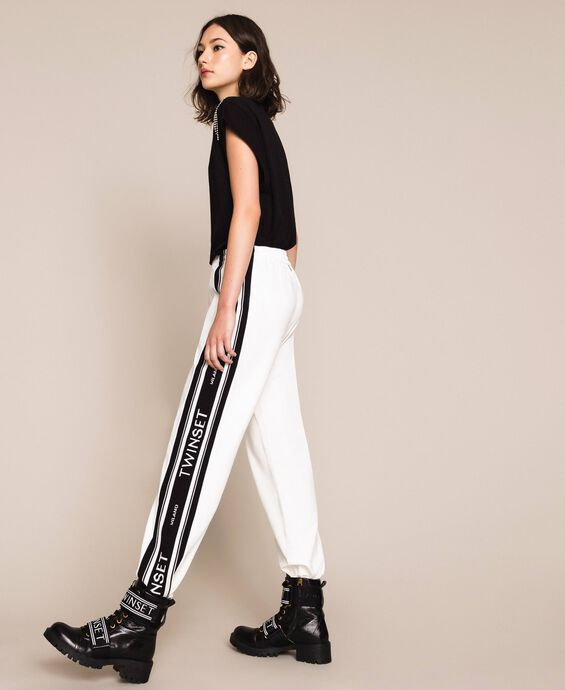Jacquard logo trousers