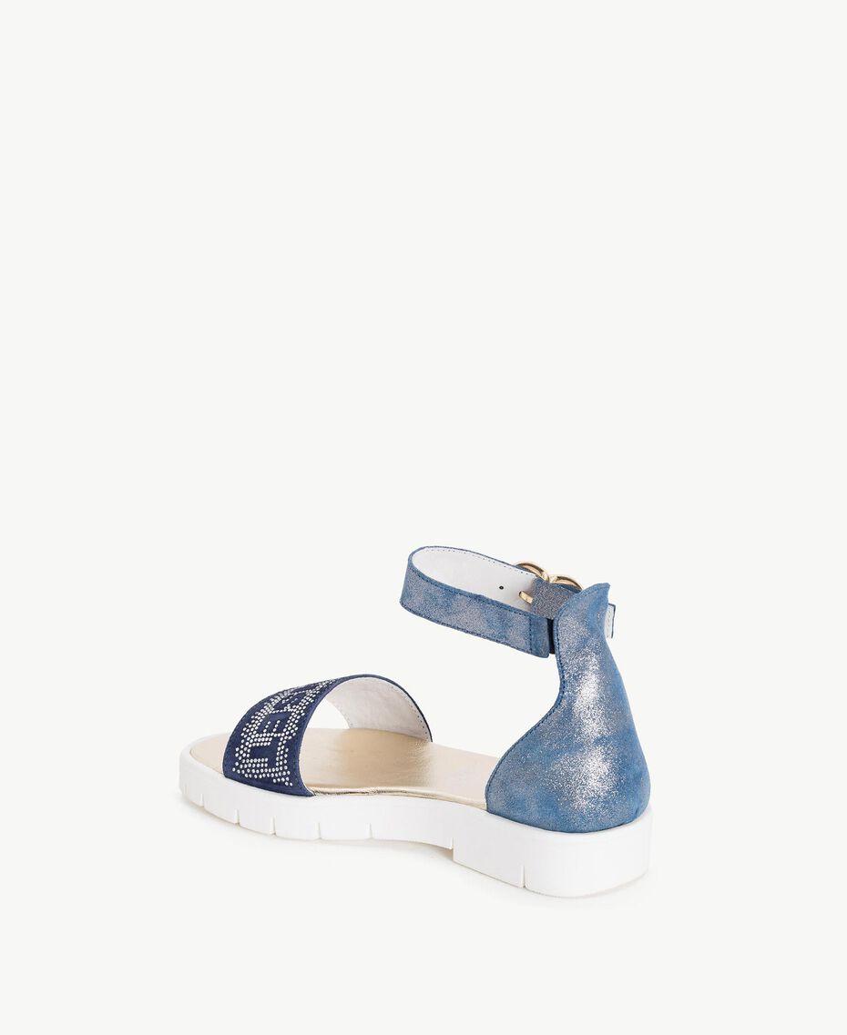 Sandale mit Strass Unendlichkeits-Azur Kind HS88DQ-03