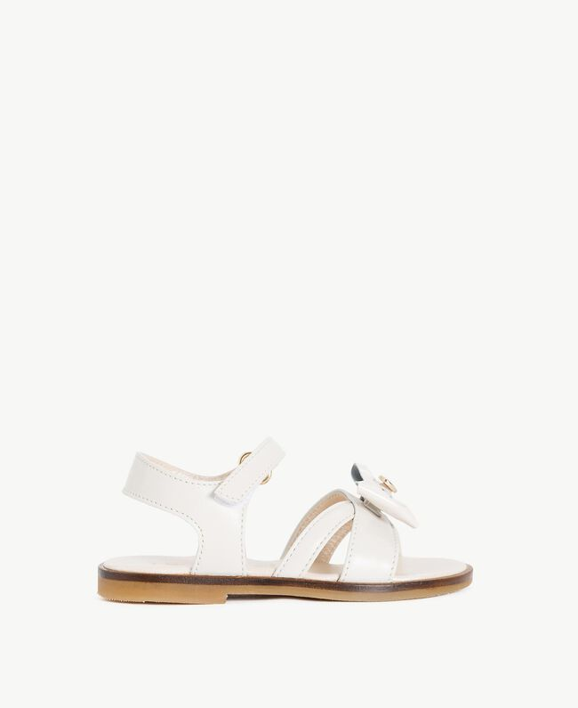 Bow sandals Pale Cream Child HS86CQ-01