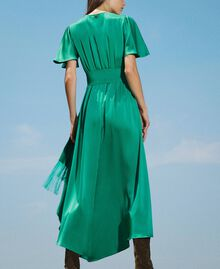 Long satin dress with draping Python Woman 202TP2620-03