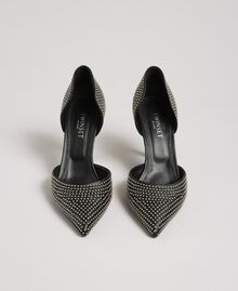 Escarpins en cuir avec clous all-over Noir Femme 192TCP152-05