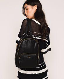 Рюкзак из искусственной кожи с карманом Черный женщина 201TA7163-0S