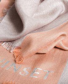 "Lurex-Jacquard-Schal ""Bellini"" Pink Frau 191TA4366-03"