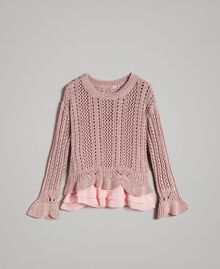 Lace stitch lurex top Pearl Pink Lurex Woman 191TP3351-0S