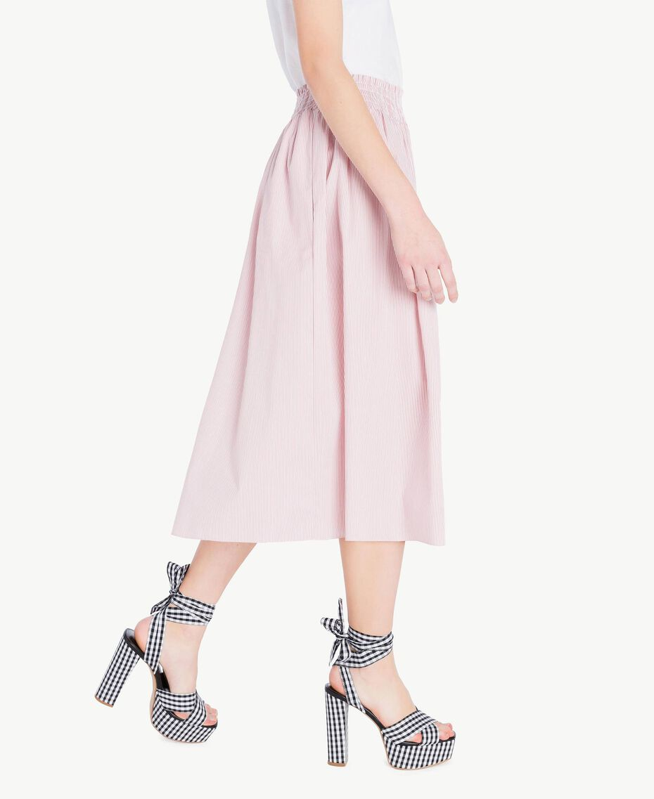 Mid-length skirt Multicolour Misty Pink Pin Stripes Woman JS82DT-02