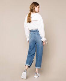 Jeans loose fit con rotture Denim Blue Donna 201MT2344-03