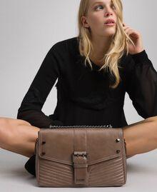 Grand sac à bandoulière Rebel en cuir Tourterelle Femme 192TA7233-0S