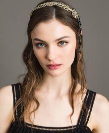 Kopfband mit Perlenfransen Schwarz Frau 191TO534J-0S