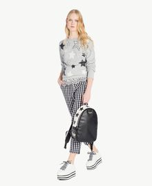 Sweatshirt mit Sternen Grau Melange Frau JS82H2-05