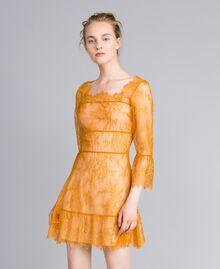 Short Valencienne lace dress Brandy Woman PA82FY-01