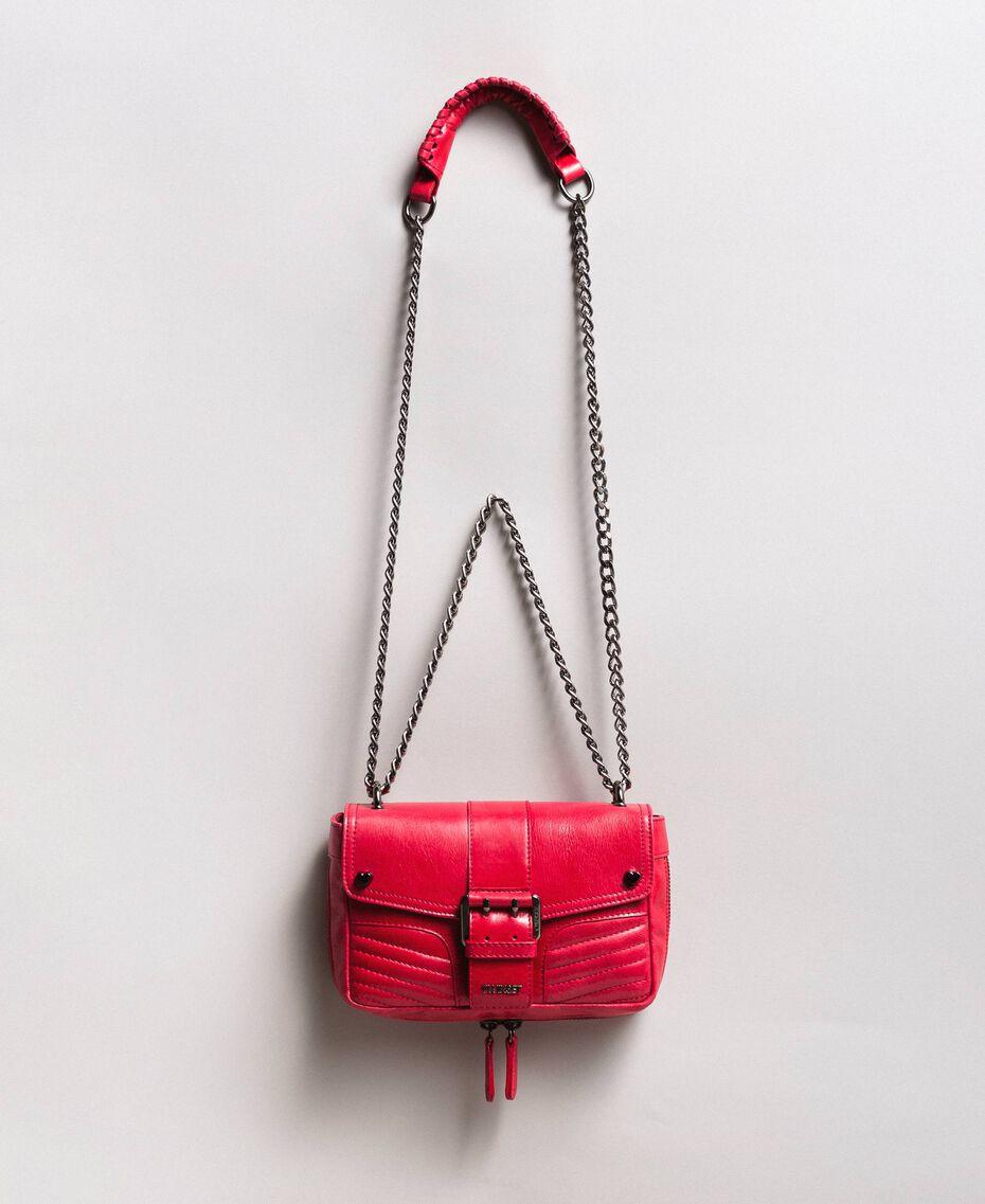 "Sac à bandoulière Rebel en cuir Rouge ""Rubis"" Femme 191TA7237-02"