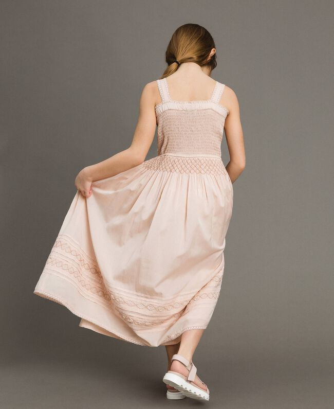 Long dress with embroideries Blossom Pink Child 191GJ2353-03