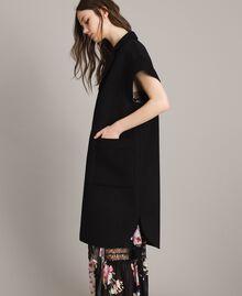 Double wool cloth waistcoat Black Woman 191TP2482-06