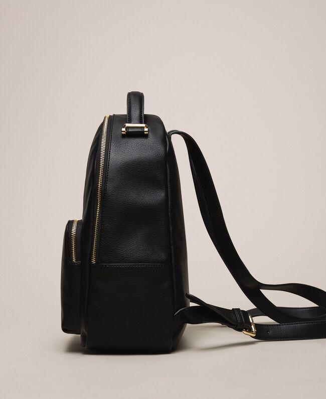 Рюкзак из искусственной кожи с карманом Черный женщина 201TA7163-04