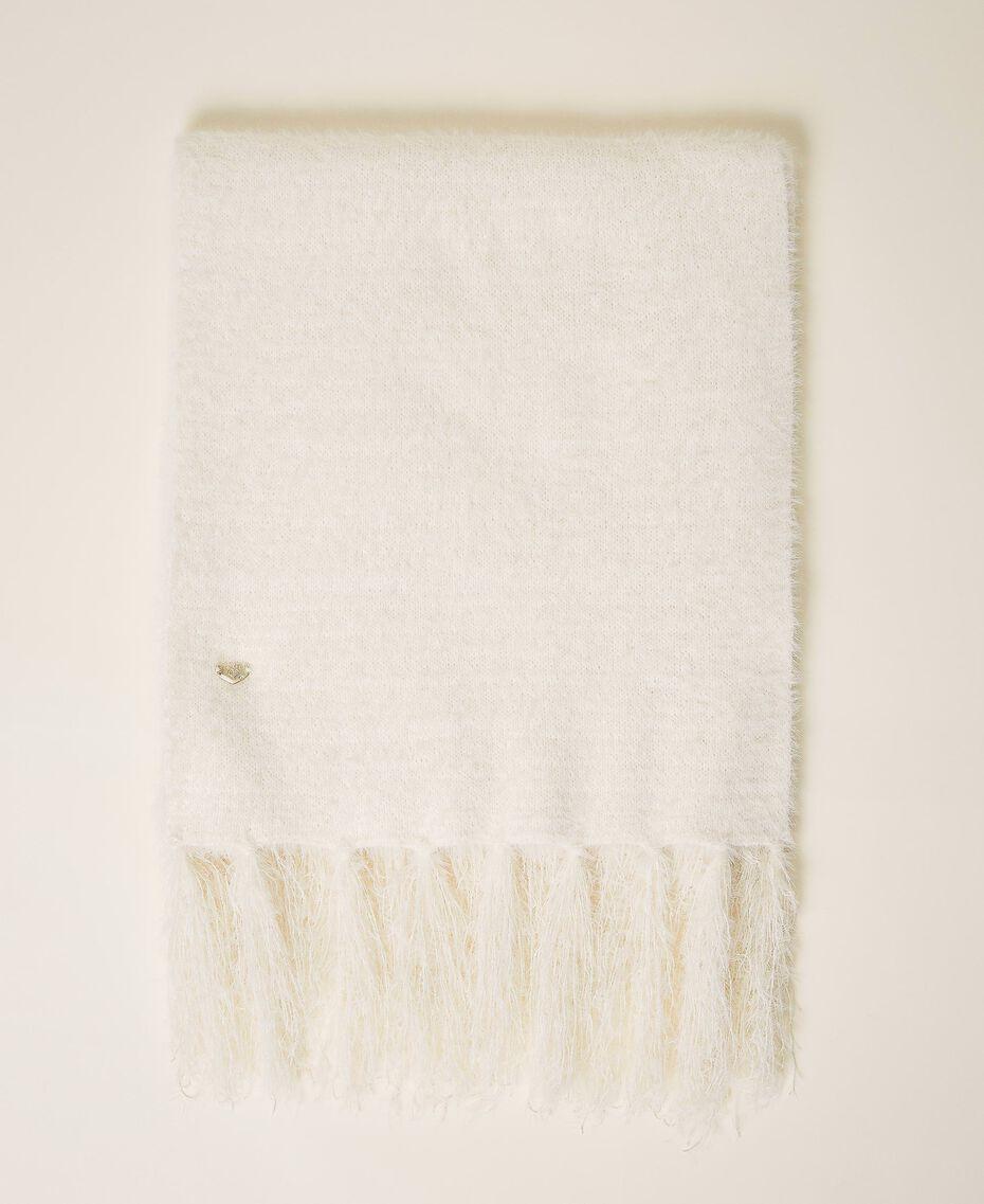 Mottled knit scarf Ivory Woman 202LI4ZSS-01