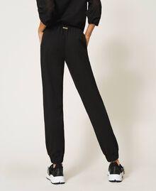 Pantaloni jogging con ricamo Nero Donna 202LI2HQQ-04