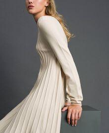 Abito in maglia plissé Bianco Panna Donna 192ST3170-01
