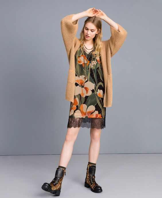 Printed georgette slip dress