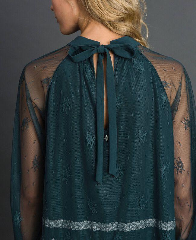 Блуза из кружева шантильи Зеленый Лес / Бело-кремовый женщина 192ST2112-03