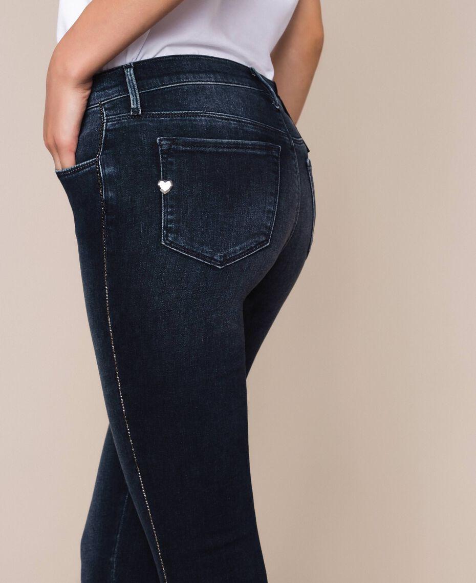 Push up jeans with sequins Denim Blue Woman 201MP2310-01
