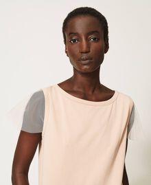 T-shirt avec volant plissé Noir Femme 202MP2391-04
