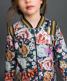 Scuba bomber jackets with floral and graffiti print Graffiti Print Child 192GJ2493-04