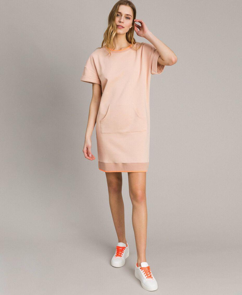Fleece mini dress Delicate Pink Woman 191LL21AA-02