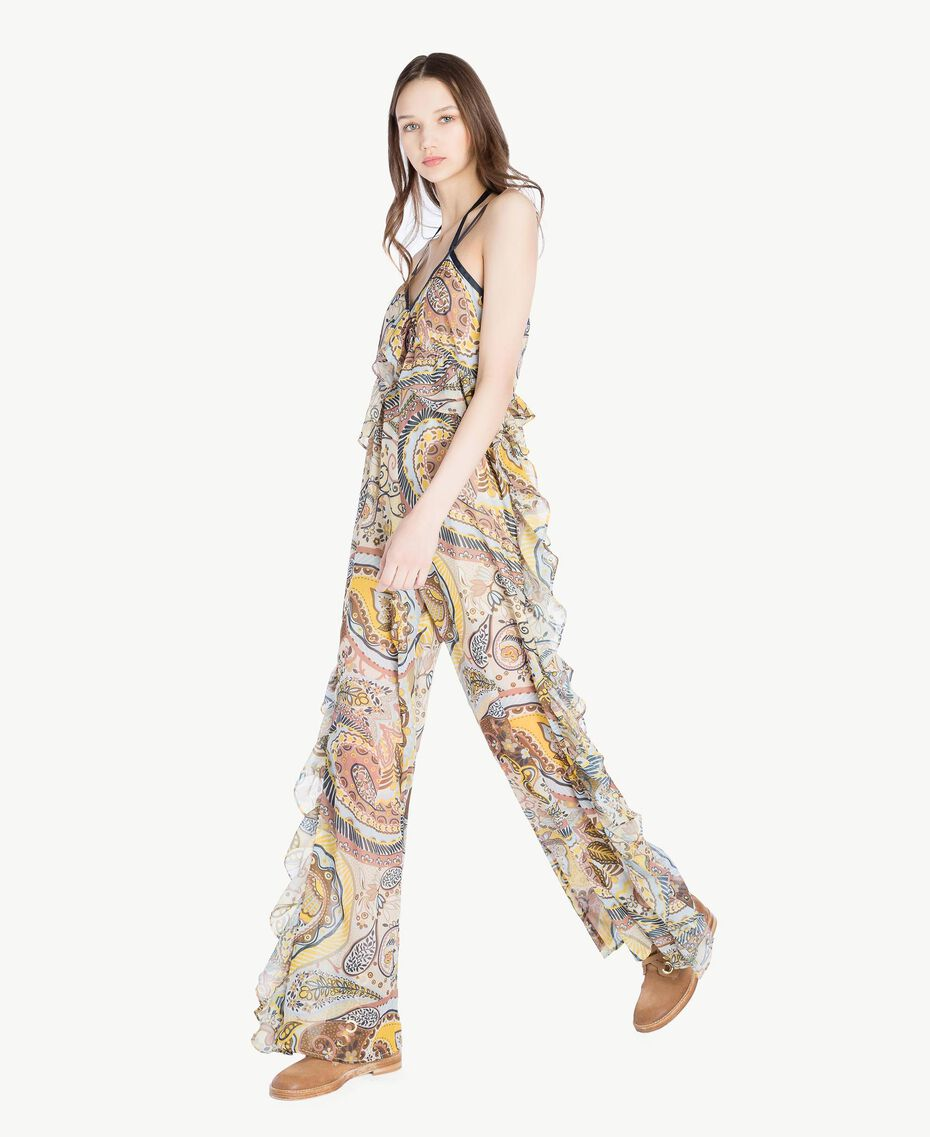 Printed jumpsuit Paisley Print Woman SS82MF-02