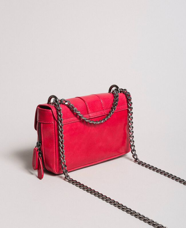 "Rebel leather shoulder bag ""Ruby"" Red Woman 191TA7237-04"