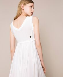 Long dress with crochet Black Woman 201LB36AA-03