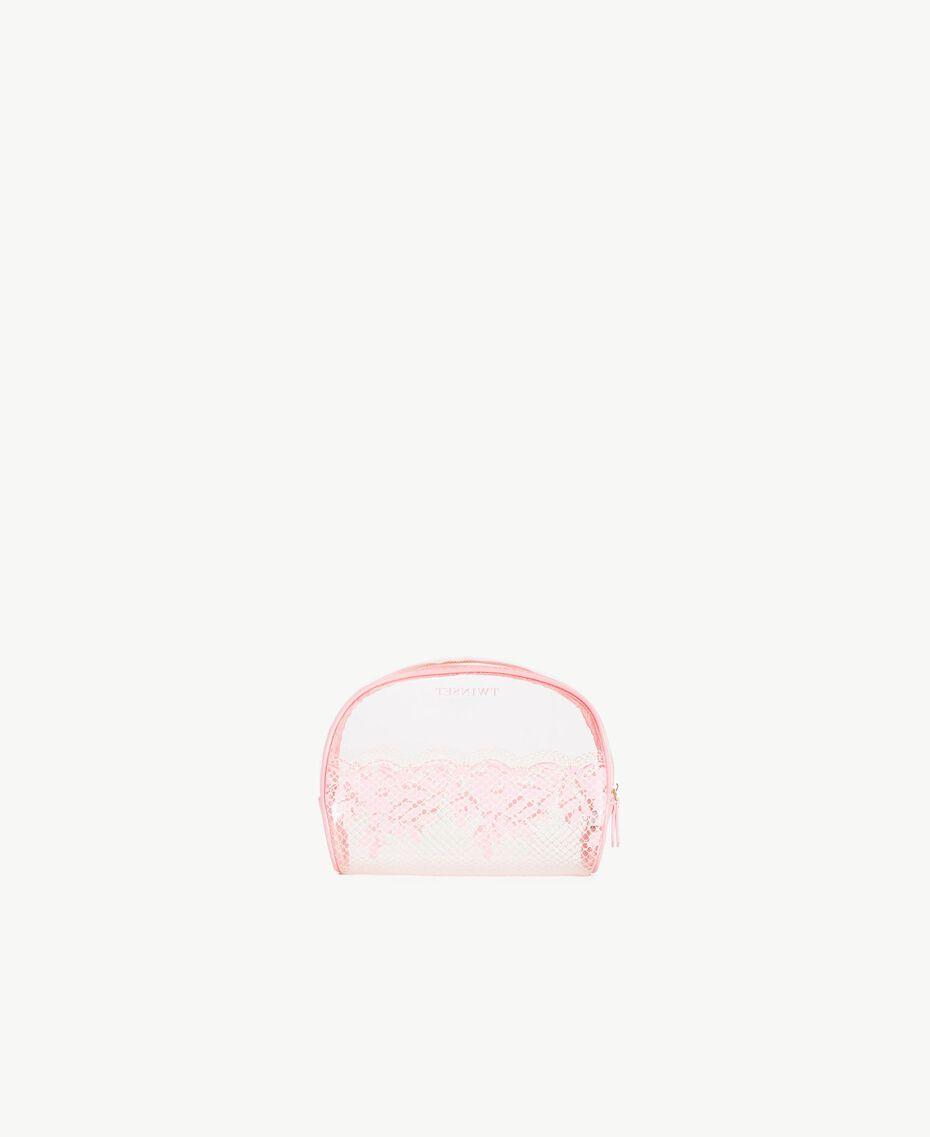"Beautycase mit Spitzenprint Zweifarbig Pinkie Sugar / ""Peach Powder""-Rosa Frau LS8AHH-03"