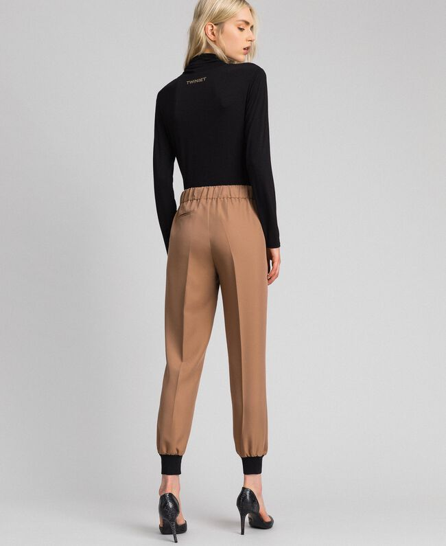 """Jogging trousers with elastic and drawstring """"Sequoia"""" Beige Woman 192ST2203-03"""