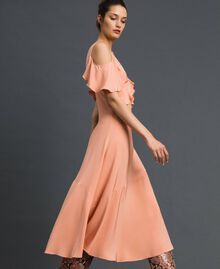 Georgette long dress with flounce Mousse Pink Woman 192TP2385-02